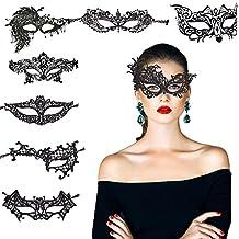 8 pcs máscara encaje negro de KAKOO de modo diferente suave para bar, fiesta, party