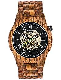 9605dfd6dccf Bonoboss Kronos - Reloj Automático de Madera para Hombre