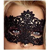 Provocative PR0038 One Size Black Sexy Embroidered Lace Mask