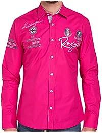 Redbridge Herren Freizeit Hemd R-2130 Pink