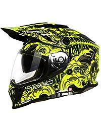 Casco Motocross Enduro Multifuncional Carretera Off-Road Casco De Rally De Doble Uso Casco De