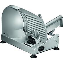 Clatronic MA 3585 - Cortafiambres de acero inoxidable, corte ajustable, disco corte 19 cm, 150 W, color plateado