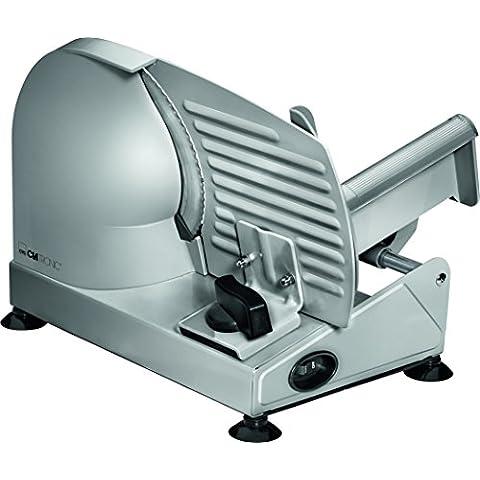 Clatronic MA 3585 - Cortafiambres de acero inoxidable, corte ajustable, disco corte 19 cm, 150 W, color
