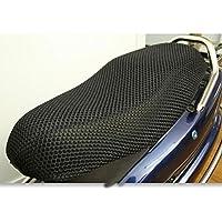 GEZICHTA Almohadilla 3D para Asiento de Motocicleta, Malla de Asiento de Bicicleta Eléctrica 3D, Protector de Refrigeración, Color Negro, XXXL 96x55cm