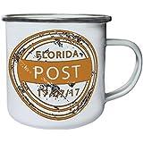 Nueva Florida Sello De Los Eeuu Retro, lata, taza del esmalte 10oz/280ml m256e