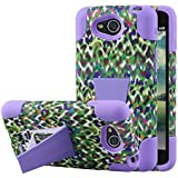 LG Optimus L90 Coque, Mpero Impact X Series Double couche rigide hybride en polycarbonate durable Silicone absorbant les chocs Coque avec béquille pour Optimus L90 [ajustement Parfait et précis Port découpes] – Violet Leopard rainbow
