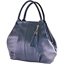 468ae50f0caabd BORDERLINE - 100% Made in Italy - Borsa da Donna in Vera Pelle - GIADA