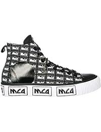 MCQ Alexander McQueen Sneakers Alte Plimsoll Uomo Black - White 3434738b29e