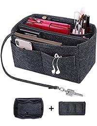 8610239f6e12f S-ZONE Geldbörse Organizer Filztasche in Tasche Handtasche Organizer mit  Reißverschluss passend LV Speedy Neverfull Longchamp…