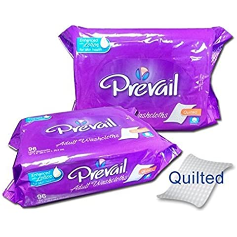 Prevail Disposable Washcloths, Prevail Wshclth Ref Jumbo Pk, (1 CASE, 576 EACH) by First Quality
