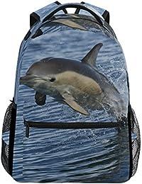 557993cbab COOSUN Delfino comune Casual Daypack sacchetto di scuola dello zaino di  viaggio Delfino comune