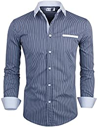Tom's Ware Chemise-Vertical raye a manches longues poche-Hommes