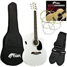 Tiger ACG4-WH - Guitarra electroacústica, color blanco