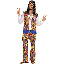 Widman - Disfraz de hippie años 60s para hombre, talla L (W3525-L)