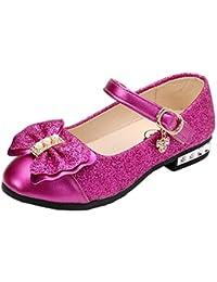 4c3e8196f YOGLY Sandalias Zapatos de Tango Latino para Niños Vestir Fiesta Princesa  de Tacón Primavera Verano Zapatillas