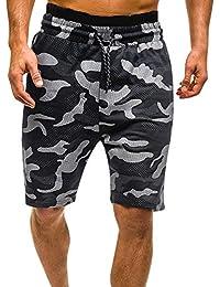 5a1e1a182ee2 FIRSS-Herren Shorts   Camouflage Trainingsshorts Drucken Beachshorts Mit  Kordelzug Jogginghose Fitness Strandshorts Schwimmhose Sommer