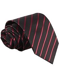 Cravate et Rouge à Rayures Obliques