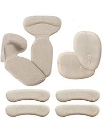 Biwat Haut Talon Coussinets (8 pcs) - Haut Talon Grips, inserts Talon, Talon antidérapant Semelles Dos Liner Haut Talon Coussins pour chaussures de démarrage (Beige)