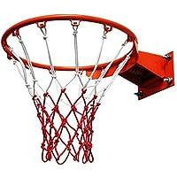 شبكة كرة السلة في الهواء الطلق، برتقالي الجدار لعب كرة السلة مع مسامير التمدد، للبالغين والأطفال (اللون: Style4)