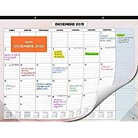 Calendario de Pared 2020 de SmartPanda – Calendario Mensual de Sobremesa – Julio 2019 a Diciembre de 2020 – Vista de un Mes – 33 cm x 43 cm