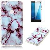 """Para HUAWEI P8Lite 2017(5.2"""") Case diseño de mármol con protector de pantalla"""