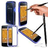G-Hub Coque pour LGE960 Nexus4 avec stylet ProPen Bleu - Bleu