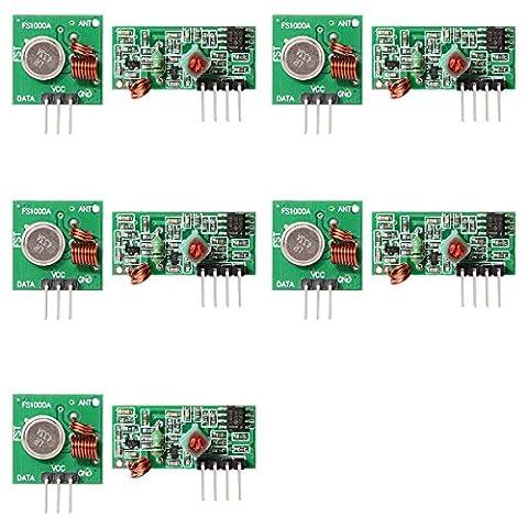 XCSOURCE® 5 STK 433Mhz RF Transmitter Modul+Receiver Kit für Arduino ARM MCU WL TE122 (3 Modul Kit)