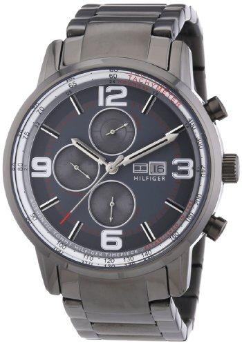 Tommy Hilfiger Herren-Armbanduhr Casual Sport XL Analog Quarz Edelstahl beschichtet 1710339