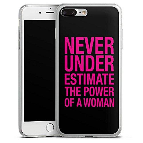 Apple iPhone X Slim Case Silikon Hülle Schutzhülle Power Women Frauen Workout Silikon Slim Case transparent