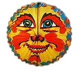 HAAC Lampion bunt mit Motiv Mond oval 35 cm für Feste Laternenumzug