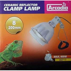 Ardacia ARM160X Reflektor- Klemmleuchte Lampe, 20 cm
