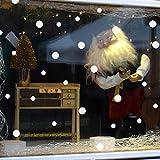 Hunpta Wand Fenster Sticker Schneeflocke Punkte Weihnachten Xmas Vinyl Kunst Dekor Aufkleber (Weiß)