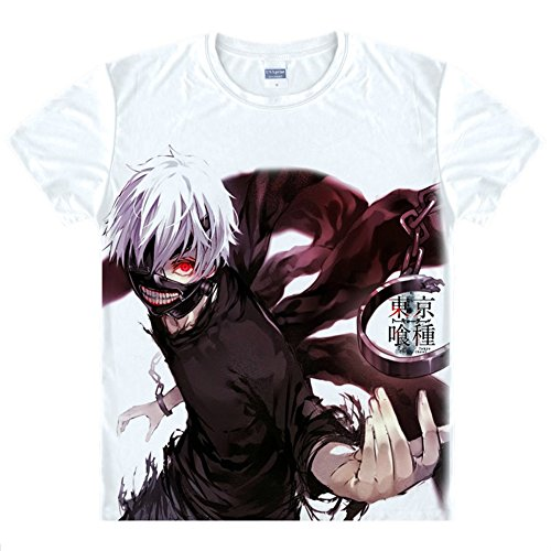 Jeylu Tokyo Ghoul Anime Kaneki Ken Cosplay Costume t Shirt Taille Asiatique X-L