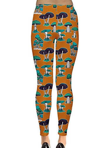 CowCow - Legging - Femme Vert Vert Orange - Orange