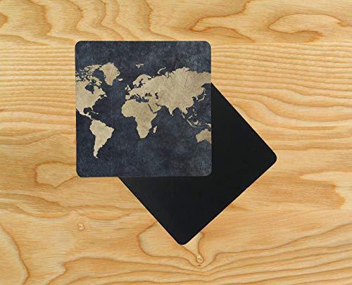 , Motiv: Weltkarte, altes Design, 95 x 95 mm, 10 Stück ()