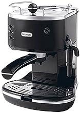 De'Longhi Icona Eco 311.BK Macchina da Caffè Espresso Manuale e Cappuccino, Caffè in Polvere o in Cialde E.S.E., 1100 W, Nero