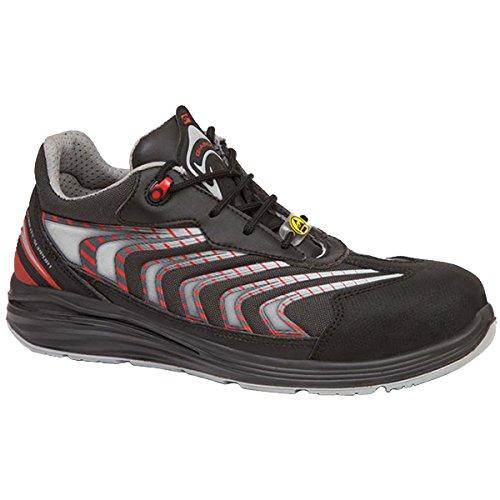 Giasco UP071R45 Gemini Chaussures de sécurité bas S1P Taille 45 Noir/Rouge