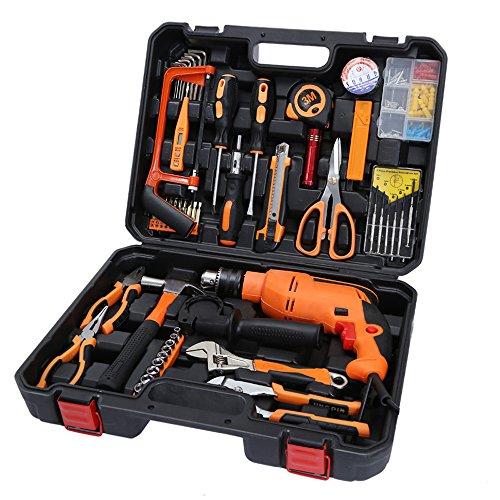Winsale Bohrhammer Set 60pc SDS Pneumatischer Bohrhammer Meißelhammer Bohrmaschine SDS-Bohrer + Meißel + Koffer