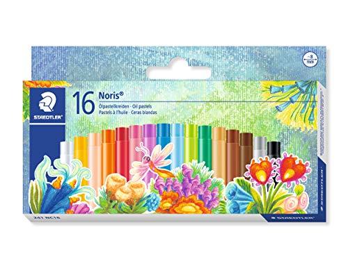 Staedtler Noris Club 241 NC16. Lápices de cera para colorear. Caja con 16 ceras de colores variados.