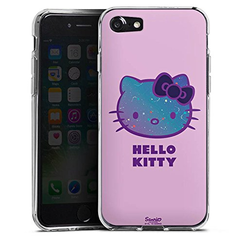 Apple iPhone X Silikon Hülle Case Schutzhülle Hello Kitty Merchandise Fanartikel Universe Silikon Case transparent