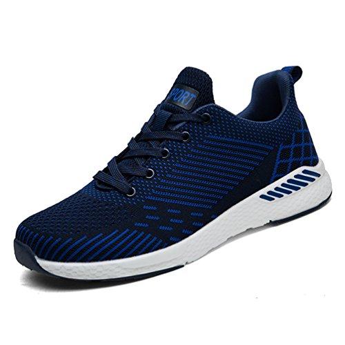FLARUT Herren Sneaker Erwachsene Laufschuhe Damen Trainer Fitnessschuhe Gym Outdoor Schuhe Walking Trekking Turnschuhe Sportschuhe Atmungsaktiv Casual Trail-Laufschuhe Straßenlaufschuhe(Blau,43) (Sneaker Schuhe Walking)