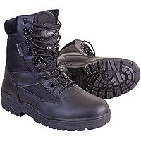 Kombat UK da uomo in pelle metà/Half Cordura Patrol stivali, Uomo, Half Leather/Half Cordura, Black, Taglia 6