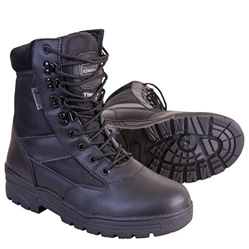 Kombat UK da uomo in pelle metà/Half Cordura Patrol stivali, Uomo, Half Leather/Half Cordura, Black, Taglia 9