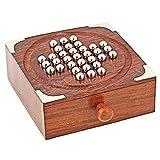 Holzpuzzle Labyrinth Brettspiel, Silber Farbe Perlen mit Schublade für die Lagerung, Spiel für Kinder und Erwachsene, Ostern Tag / Muttertag / Karfreitag Geschenk