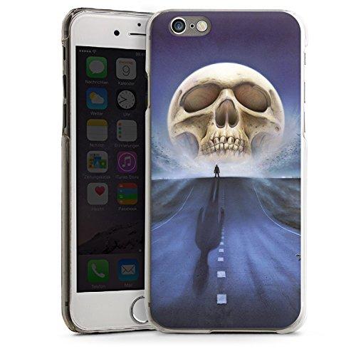 Apple iPhone 5s Housse Étui Protection Coque Rue Tête de mort Crâne CasDur transparent