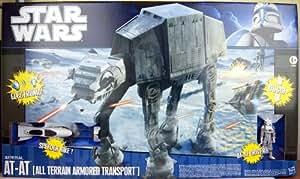 Star Wars - 93994 - Imperial AT-AT Walker - env 60 cm de haut - avec Pilot de AT-AT et Speeder Bike - sons et lumieres