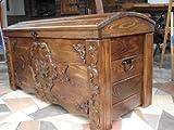 DECOCRAFT Ottoman Decke Box Couchtisch Trunk Vintage Chest aus Holz Holz Box (jul1)