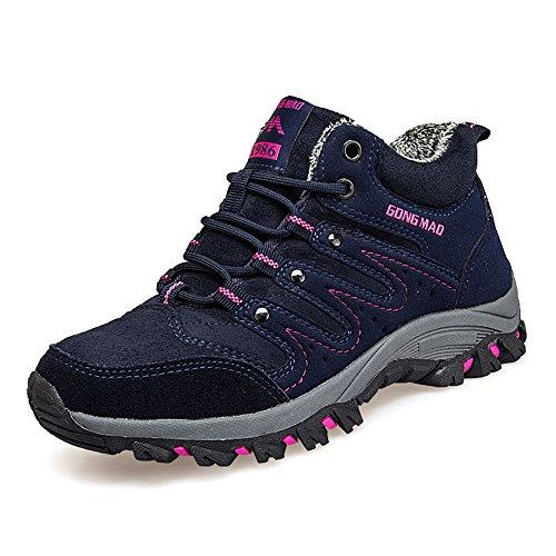 Damen Herren Winterschuhe Warm Gefütterte Trekking Outdoor Schuhe Winter Schnür Sneaker Boots