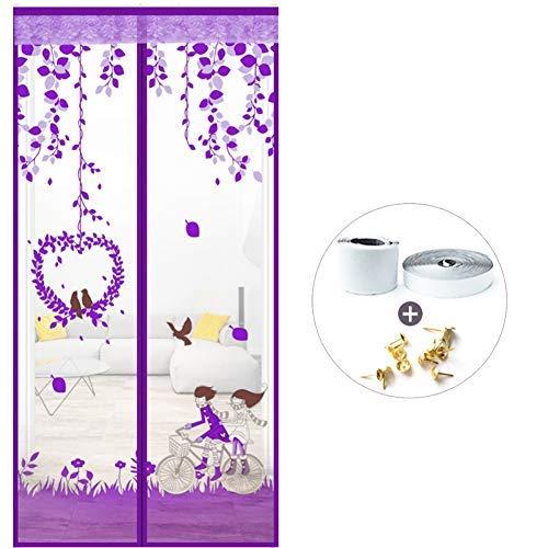 YSA Heavy Duty Magnetic Screen Tür, selbstdichtende Mesh Magnetic Screen Tür, Anti Insect Bug Off Windproof Verbesserte Full Frame-e 100x220cm (39x87inch) -