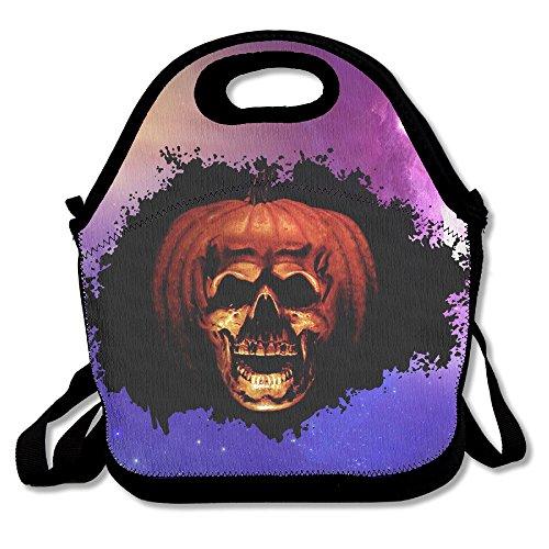 Halloween Totenkopf Lunch Bag Handtasche Lunchbox für Schule Arbeit Outdoor